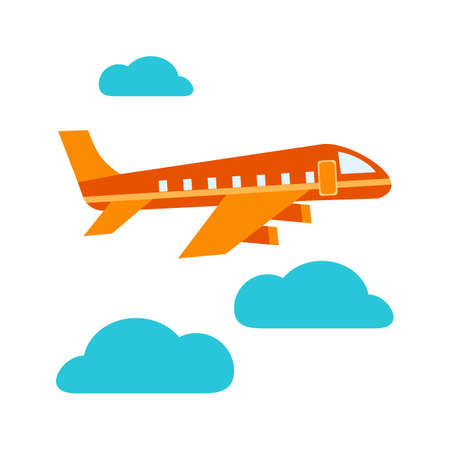 Airplane, flying, flight icon vector image. Can also be used for airport. Suitable for mobile apps, web apps and print media. 일러스트