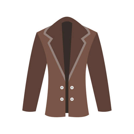 Coat, clothes, fashion icon vector image. Can also be used for Men s Accessories. Suitable for mobile apps, web apps and print media.