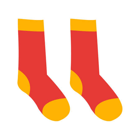 Wool socks vector illustration