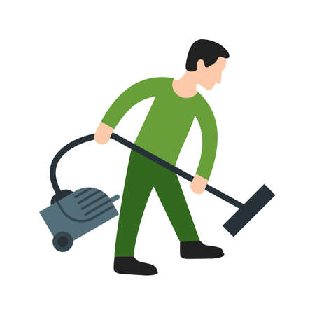 Vacuum, cleaner, home icon vector image. Can also be used for Cleaning Services. Suitable for mobile apps, web apps and print media. Illustration