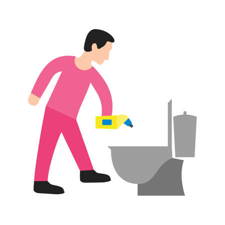 Cleaning, bathroom, man icon vector image. Can also be used for Cleaning Services. Suitable for web apps, mobile apps and print media.