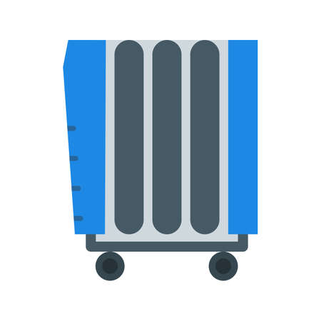 Oil Heater icon Vector illustration. Illustration