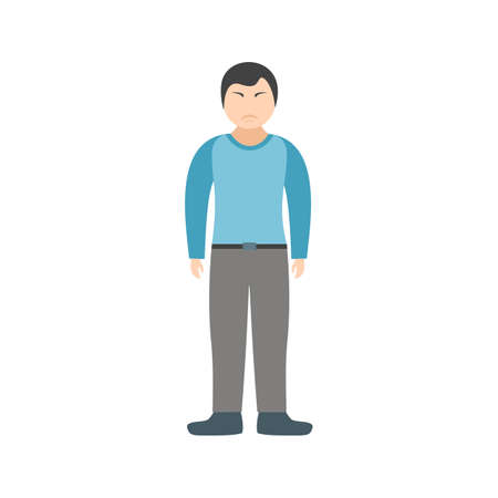 Stubborn, angry, rude icon vector image. Can also be used for Personality Traits. Suitable for web apps, mobile apps and print media. Vectores