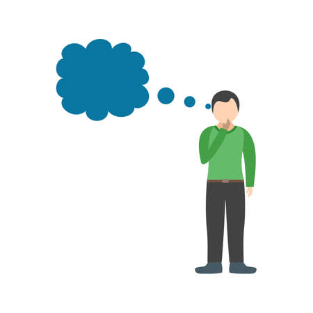 Thinking, brain, thought icon vector image. Can also be used for Personality Traits. Suitable for mobile apps, web apps and print media. Illustration