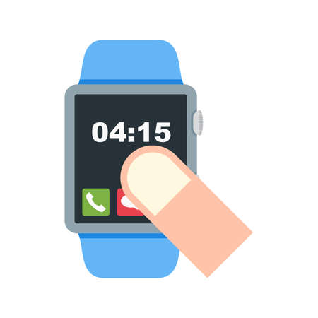 Watch, fingers, hand icon vector image. Can also be used for Smart Watch. Suitable for mobile apps, web apps and print media. Illustration