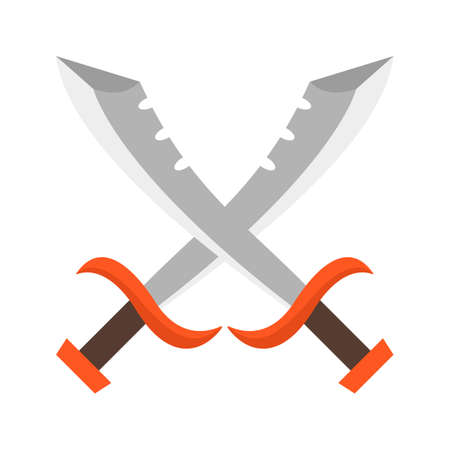 Pirate, swords, crossed icon vector image. Can also be used for Pirate. Suitable for use on web apps, mobile apps and print media.