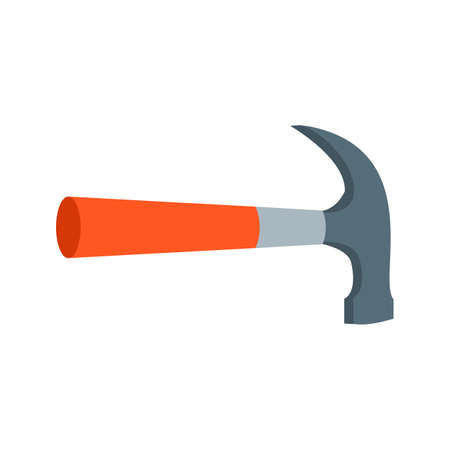 Hammer, tool, hardware icon vector image. Can also be used for Hand Tools. Suitable for use on web apps, mobile apps and print media.