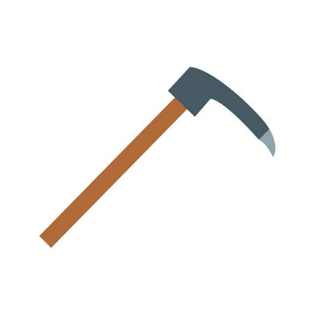Adz, tool, carpentry icon vector image. Can also be used for Hand Tools. Suitable for use on web apps, mobile apps and print media 스톡 콘텐츠 - 94582194