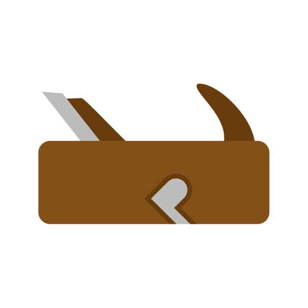 Wood, tool, style icon vector image. Can also be used for Hand Tools. Suitable for use on web apps, mobile apps and print media. Illustration
