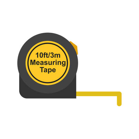 Tape, measure, scale icon vector image. Can also be used for Hand Tools. Suitable for mobile apps, web apps and print media. Ilustracja