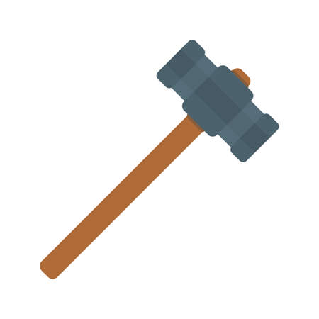 Hammer, sledge, power icon vector image. Can also be used for Hand Tools. Suitable for use on web apps, mobile apps and print media. Иллюстрация