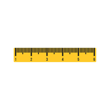 Ruler, length, equipment icon vector image. Can also be used for Hand Tools. Suitable for use on web apps, mobile apps and print media. Illustration