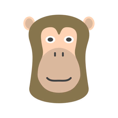 Baboon, face, africa icon vector image. Can also be used for Animals Faces. Suitable for mobile apps, web apps and print media. Illustration
