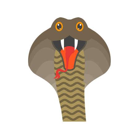 Snake, king cobra icon vector image.