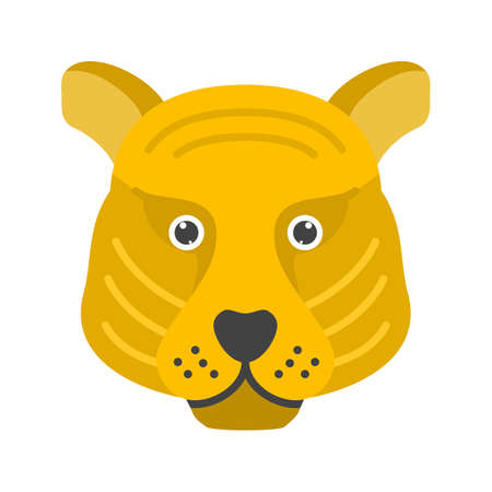Tiger cub icon vector image that Can also be used for Animal Faces.
