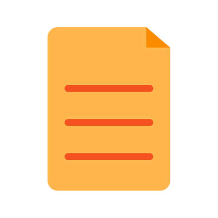 Documents, Archive, copy web icon, isolated on white Ilustrace
