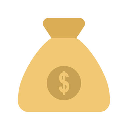 Money bag, currency, sack icon vector image. Can also be used for banking, finance, business. Suitable for web apps, mobile apps and print media. 일러스트