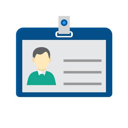 Identity card, information, account icon vector image. Can also be used for banking, finance, business. Suitable for web apps, mobile apps and print media. Illustration