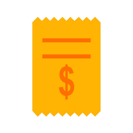Dollar, cash, receipt, icon vector image. Can also be used for banking, finance, business. Suitable for web apps, mobile apps and print media.