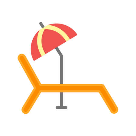 Sunbathing Chair Icon Illustration