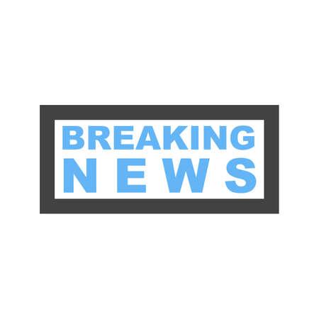 Breaking news icon with border illustration on white background. Stock Illustratie
