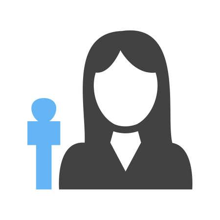 Female anchor icon illustration on white background.