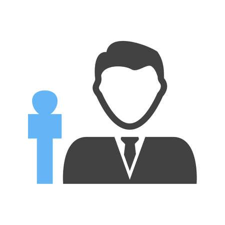 Male anchor icon illustration on white background.