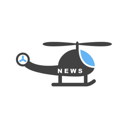 News Helicopter icon Illustration