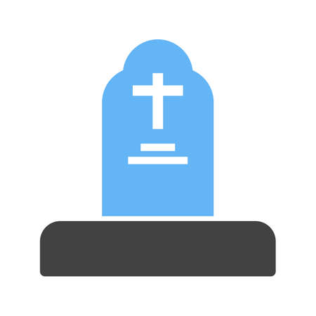 Grave funeral icon