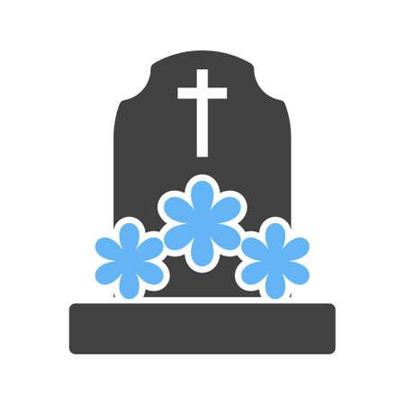 花を持つ墓