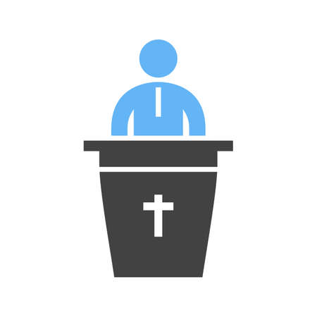 Speaking on Funeral icon Ilustrace