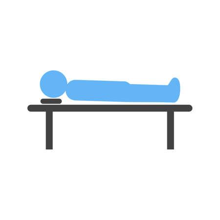 Body Lying on Table Illustration