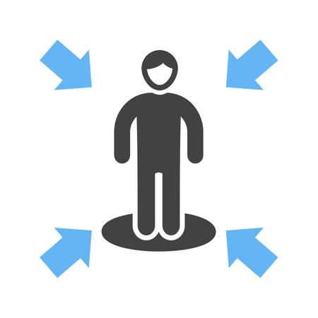 Influencing skills icon illustration on white background.