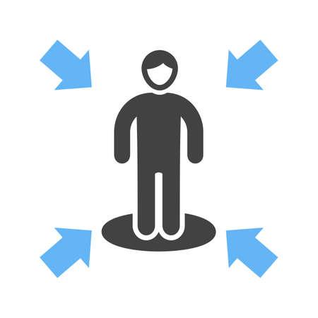 Influencing skills icon illustration on white background.