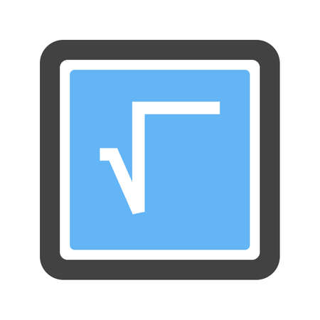 Square Root Symbol Vector illustration Çizim