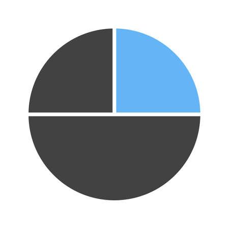 Círculo dividido en 3 partes, ilustración vectorial