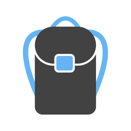 Backpack, journey, bag icon vector image. Can also be used for Mens Accessories. Suitable for use on web apps, mobile apps and print media. Stock Illustratie