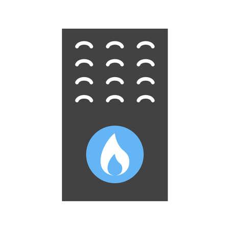 Gas Furnace icon illustration design Vector Illustration