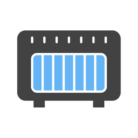 Gas Heater icon illustration design