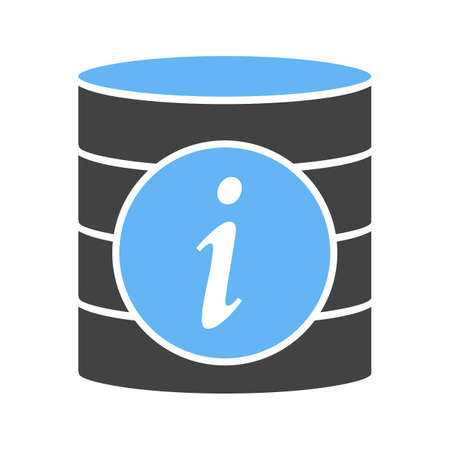 Data information icon. Ilustração