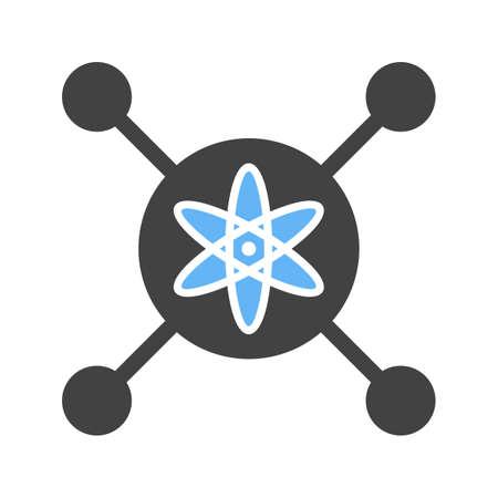 Intelligent Control icon Vector illustration isolated on white background. Illusztráció
