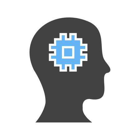 Machine perception icon. Çizim