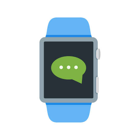 Message, watch, app icon vector image. Can also be used for Smart Watch. Suitable for mobile apps, web apps and print media. Reklamní fotografie - 95969027