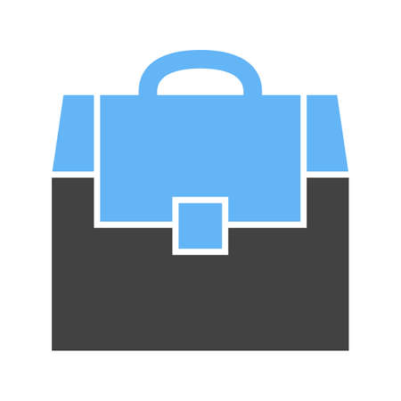 Tool box, container icon vector image. Can also be used for Hand Tools. Suitable for use on web apps, mobile apps and print media.  イラスト・ベクター素材