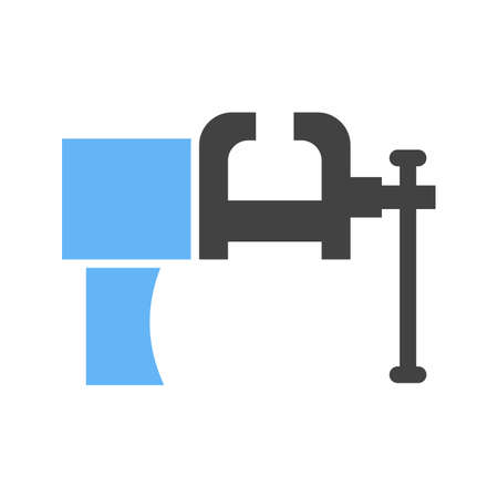 Vice tool, pressure icon vector image. Can also be used for Hand Tools. Suitable for use on web apps, mobile apps and print media. Ilustração