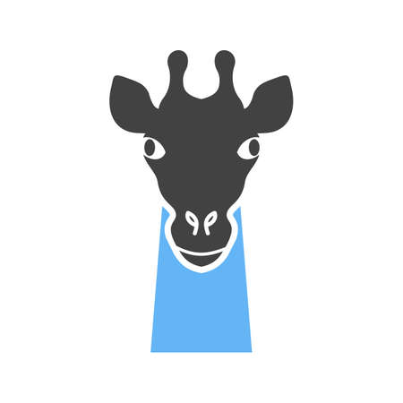 Giraffe, animal, wildlife icon vector image. Can also be used for Animals Faces. Suitable for mobile apps, web apps and print media. Illustration