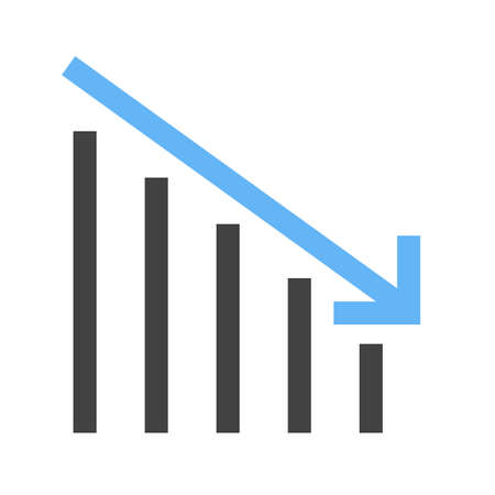 Chart going down crisis Icon