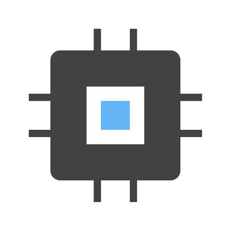 Chip Circuit Icon Vector illustration isolated on white background.