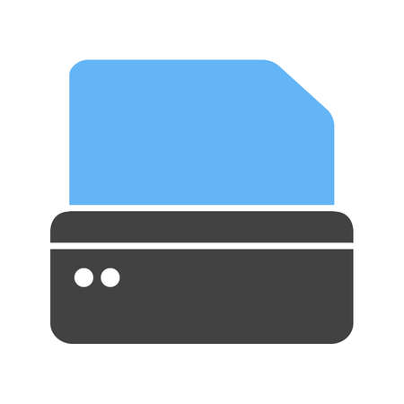 Printer, printing machine, digital printer icon  image. Can also be used for printing, office equipment and copying. Suitable for web apps, mobile apps and print media Illustration