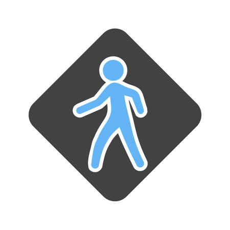 Pedestrian crossing, crosswalk icon image. Vector illustration.